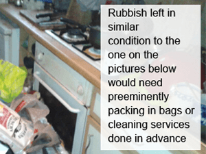 junk packing before collection service